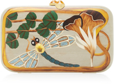 Silvia Furmanovich Dragonfly Embellished Wood Clutch