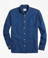 Brooks Brothers Chambray Diamond-Print Sport Shirt