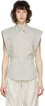 Isabel Marant Off-White Silk Enza Sleeveless Shirt