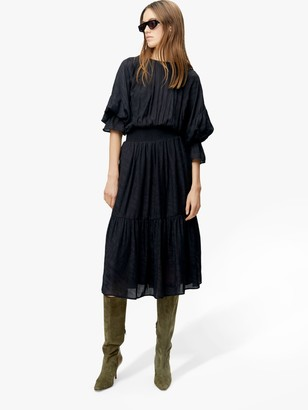 Gestuz Vanaya Midi Dress, Black