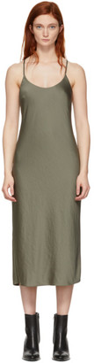 Alexander Wang Khaki Wash and Go Light Open Back Dress