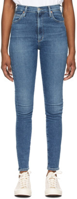 Citizens of Humanity Blue High-Rise Chrissy Jeans