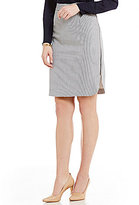 Antonio Melani Dominique Striped Suiting Pencil Skirt