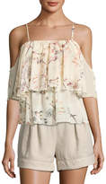 Bishop + Young Lilly Tiered Cold-Shoulder Top, Multi
