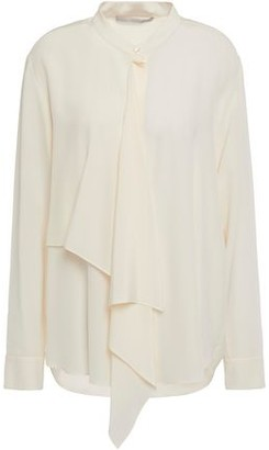 Stella McCartney Draped Silk Crepe De Chine Blouse
