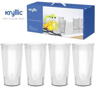 IDEA Plastic Tumblers Dishwasher Safe Water Drinking Glasses Reusable Cups Acrylic Tumblers Break Resistant 20 Ounce Tumbler Set of 16 Bpa Free Cup for Water Juice Wine Best Gift by Kryllic