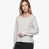 James Perse Plush Cashmere Cropped Sweater