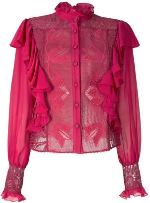Martha Medeiros Barbara shirt with lace and ruffle