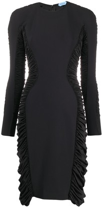 Thierry Mugler Ruched Panel Dress