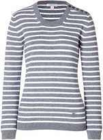 Burberry Brit Wool-Cashmere-Cotton Pullover in Heather Mid Grey