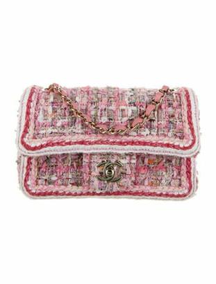 Chanel 2019 Tweed Braid New Mini Flap Bag Pink