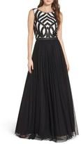 Aidan Mattox Women's Embellished Bodice Ballgown