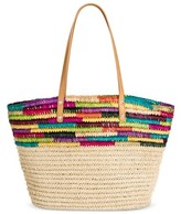 Merona Women's Medium Straw Tote Handbag