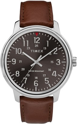 Timex Men's Tan Leather Strap Watch