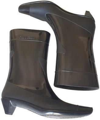 Miu Miu Black Rubber Ankle boots