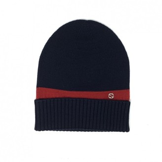 Gucci Navy Wool Hats & pull on hats