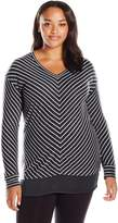 Just My Size Women's Plus Lightweight V-Neck Tunic