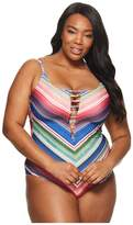 Becca by Rebecca Virtue Plus Size West Village One-Piece Women's Swimsuits One Piece