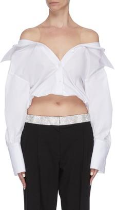 Alexander Wang x Lane Crawford sheer panel shirt