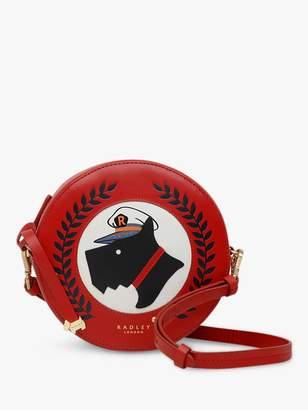 Radley Sailing Dog Leather Cross Body Bag, Red