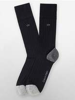 Calvin Klein Colorblock Cotton Blend Rib Knit Socks