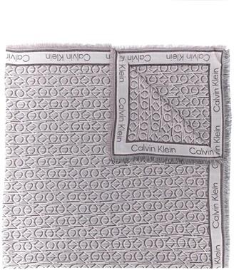 Calvin Klein Geometric-Print Squared Scarf