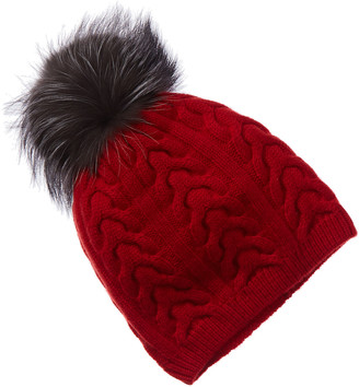 Amicale Cashmere Cable Hat