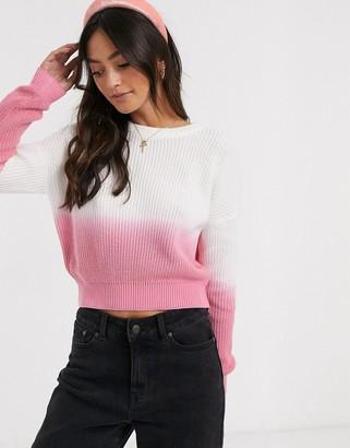 Brave Soul havana ombre knit sweater