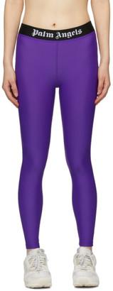 Palm Angels Purple Sport Leggings