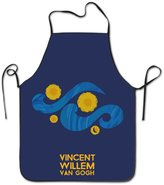 MONO H&O Women's Apron - Vincent Van Gogh Kitchen And Cooking Apron, Durable Stripe For Cooking, Grill And Baking