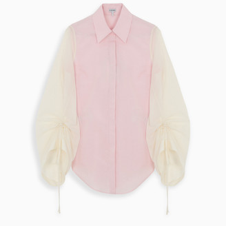 Loewe Pink blouse with curled sleeves detail