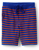 Lands' End Toddler Boys Pattern Sweat Shorts-Rich Sapphire Stripe