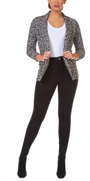 Black Tape Ruched-Sleeve Open Blazer, in Regular & Petite