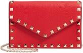 Valentino Garavani Rockstud Calfskin Leather Envelope Pouch