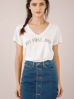 Signorelli But First Rose Tee in Light Cream