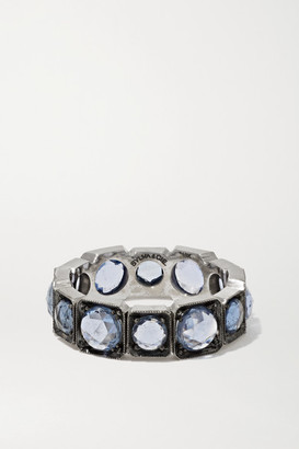 Sylva & Cie 18-karat White Gold Sapphire Ring