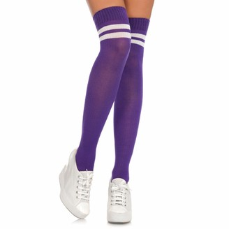 Leg Avenue Women's Athletic Ribbed Thigh-High Hosiery