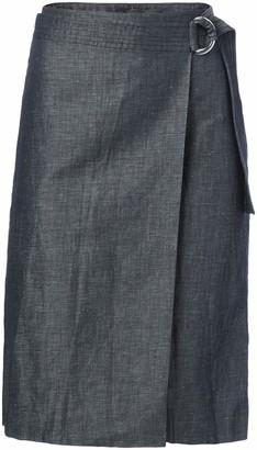 Ellen Tracy Women's Petite Size Faux Wrap Belted Skirt
