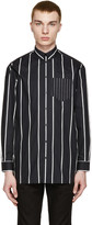 Givenchy Black & White Oversized Striped Shirt