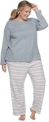 Croft & Barrow Plus Size Printed Pajama Set