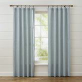 Crate & Barrel Largo Aqua Linen Curtain Panels
