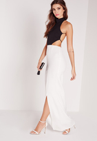 Missguided Backless Maxi Dress Monochrome