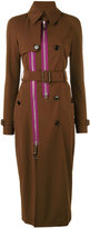 Givenchy zip panel trench coat - women - Silk/Polyamide/Polyester/Viscose - 38