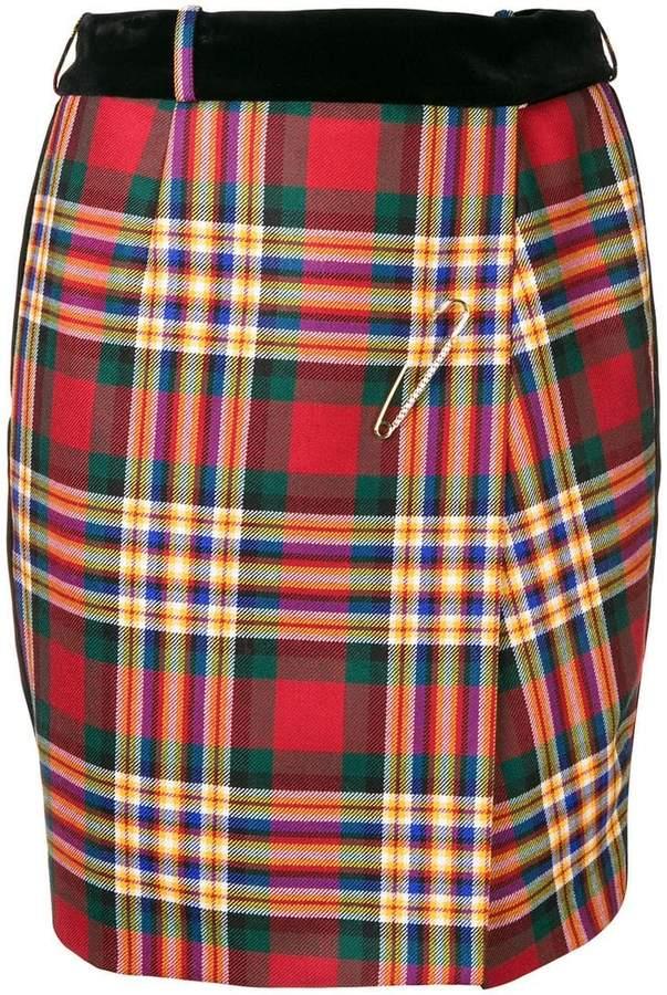 Alexandre Vauthier checked mini skirt