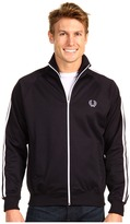Fred Perry Twin Taped Track Jacket (Navy/White) - Apparel