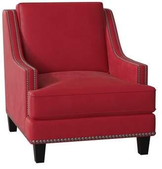 Paige Wayfair Custom UpholsteryTM Armchair Wayfair Custom UpholsteryTM Body Fabric: Bayou Flame, Nailhead Detail: Black Nickel