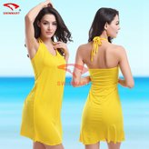 Sexy & goddess Super Sexy Plus Large Size Summer Beach Wrap Shirt Dress Beach Cover Up Dresses