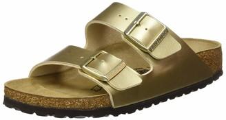 Birkenstock Women's Sandales Arizona Birko-Flor Gold 5 UK