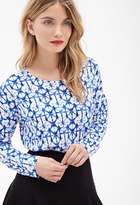 LOVE21 LOVE 21 Contemporary Abstract Print Knit Top