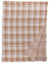 Agnona Carlotta Double-Faced Wool Plaid Throw